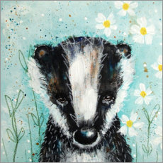 Acrylic glass  Sweet little badger - Micki Wilde