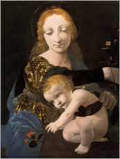 Foam board print  The Madonna of the Rose - Giovanni Antonio Boltraffio