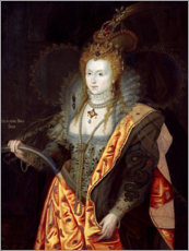 Acrylic glass  Elizabeth I of England - George Peter Alexander Healy
