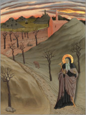 Foam board print  Saint Anthony the Abbot in the wilderness - Osservanza-Meister