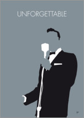 Premium poster No247 MY Nat King Cole Minimal Music poster