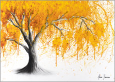 Premium poster Yellow Autumn Tree