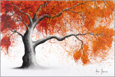 Premium poster Orange maple tree