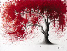 Premium poster Western Red Tree