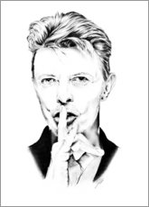Wood  David Bowie portrait minimal - Dirk Richter