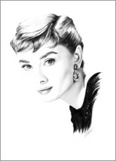 Wood  Hollywood diva - Audrey Hepburn - Dirk Richter