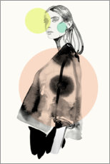 Wood print  Pastell fashion darling II - Sarah Plaumann