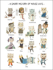 Poster  A short history of domestic cats - Judith Loske