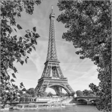 Premium poster  Idyllic view of the Eiffel Tower - Melanie Viola