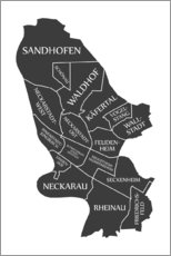 Wall sticker Modern city map of Mannheim