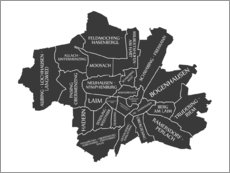 Wall sticker Modern city map of Munich