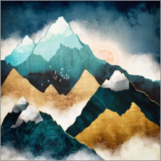 Foam board print  Mountain scene at daybreak - SpaceFrog Designs