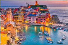 Acrylic print  Vernazza in the sunset - HADYPHOTO