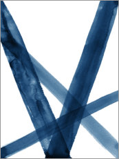 Acrylic print  Watercolor Lines in Blue II - Nouveau Prints