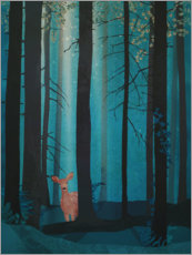 Canvas print  Fawn in the woods - Sybille Sterk