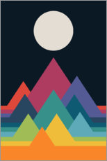 Premium poster Whimsical Mountains