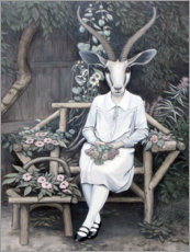 Wood  Bride in the garden - Sarah Morrissette