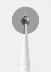 Premium poster Berlin - The TV Tower