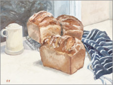 Wood print  Homemade Bread - Mary Want