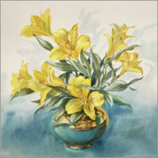 Premium poster Yellow Lillies