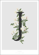 Acrylic print  J is for Jasmine - Charlotte Day