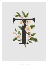 Wood print  T is for Tea - Charlotte Day