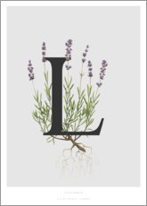 Wall sticker  L is for Lavender - Charlotte Day