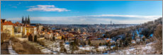 Premium poster  View over Prague from the Strahov Monastery - HADYPHOTO