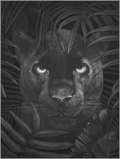 Acrylic print  Panther in the jungle - Valeriya Korenkova