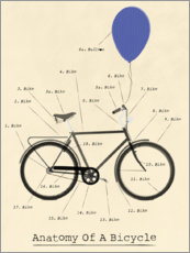 Aluminium print  Anatomy of a Bicycle - Wyatt9