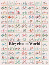 Acrylic glass  Bicycles of the World - Wyatt9