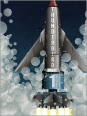 Foam board print  Thunderbird 1 Rocket Launch - Wyatt9