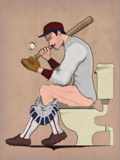 Acrylic print  Baseball player on the toilet - Wyatt9