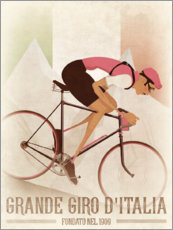 Premium poster Vintage Giro Style Downhill Cyclist