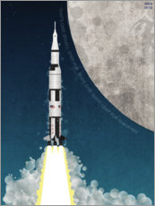 Premium poster  Apollo missile mission to the moon - Wyatt9