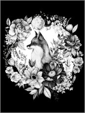 Canvas  Floral Fox - Clara McAllister