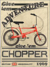Premium poster  Chopper Bicycle 1969 Advertisement - Wyatt9