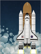 Foam board print  Launch of Nasa Space Shuttle  - Wyatt9