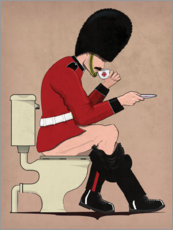 Aluminium print  Beefeater on the Toilet - Wyatt9