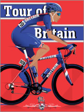 Premium poster Tour of Britain, cycling race
