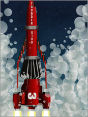 Gallery print  Thunderbird 3, Space Rocket Launch - Wyatt9