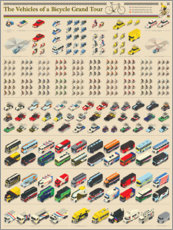 Premium poster Tour De France Vehicles