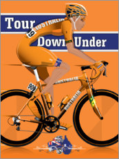 Wood print  Tour Down Under Cycling Race - Wyatt9