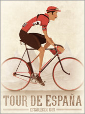 Canvas print  Vintage Tour de Espana cycling race - Wyatt9