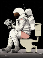 Aluminium print  Astronaut on the toilet - Wyatt9