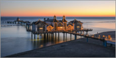 Premium poster  Sellin pier in the morning light - Robin Oelschlegel