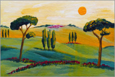Wood print  Travel to Tuscany - Christine Huwer