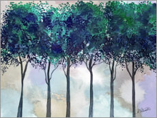 Premium poster Watercolor Treeline