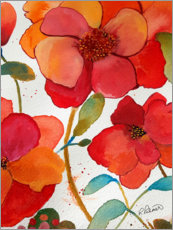 Gallery print  Pink And Orange Floral II - Ruth Palmer