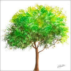 Premium poster Simple Green Tree